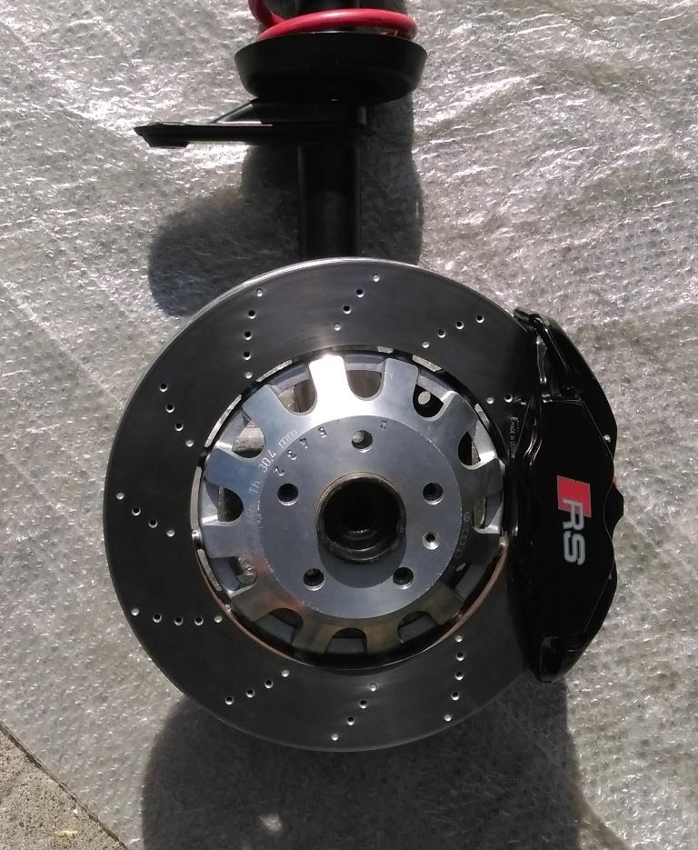 Umbaubericht: Audi RS3/TTRS Bremsanlage am Astra f / Calibra / Vectra A IMAG01333