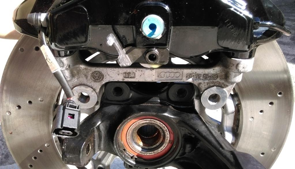 Umbaubericht: Audi RS3/TTRS Bremsanlage am Astra f / Calibra / Vectra A IMAG01340